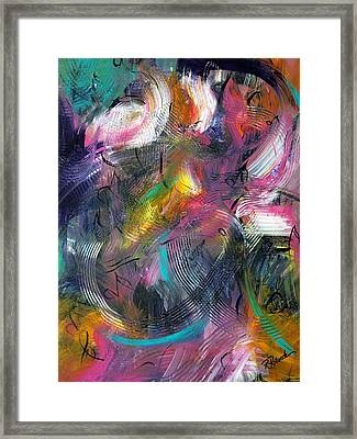 Musical Flow Framed Print