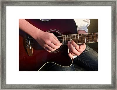 Musical Hands Framed Print