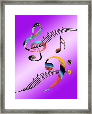 Musical Illusion Framed Print