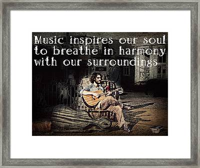 Musical Inspiration Framed Print by Melanie Lankford Photography