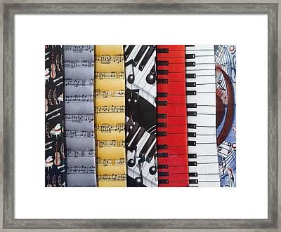 Musical Motifs Framed Print by Ann Horn