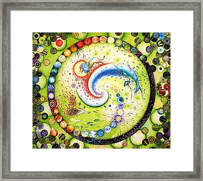 Musical Notation Lion Of Rainbow And Thousands Of Lives Framed Print
