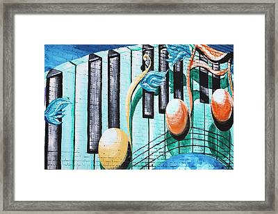 Musical Notes In Deep Ellum Framed Print by Lorri Crossno