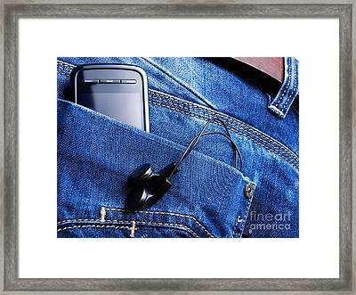Musical Pocket Framed Print