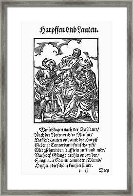 Musical Trio, 1568 Framed Print