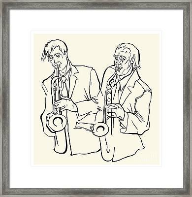 Musicans Of Jazz. Vector Illustration Framed Print