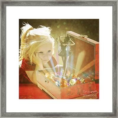 Musicbox Magic Framed Print by Linda Lees