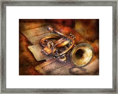 Musician - Horn - Toot My Horn Framed Print by Mike Savad