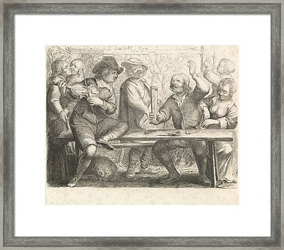 Musicians And Drinking In A Tavern, Print Maker William Framed Print by William Young Ottley And Jan Miense Molenaer
