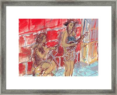 Musicians Busking  Framed Print by Edward Ching