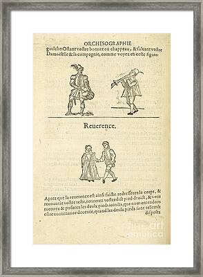 Musicians; Dancers Framed Print by British Library