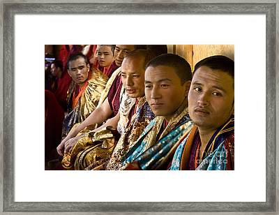 Framed Print featuring the digital art Musicians From Bhutan by Angelika Drake