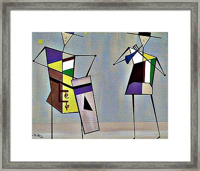 Musicians Framed Print by Lew Griffin