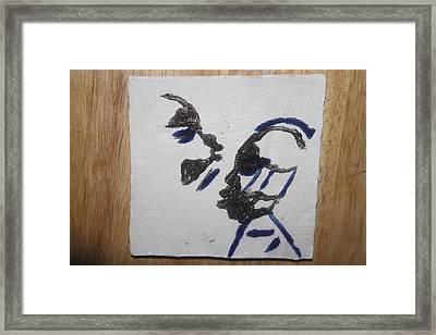 Musicman - Tile Framed Print by Gloria Ssali