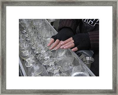 Musico-water Glasses Framed Print