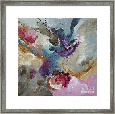 Framed Print featuring the painting Musing 109 by Elis Cooke
