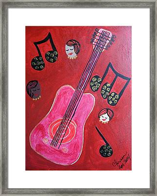 Musique Rouge Framed Print by Clarissa Burton