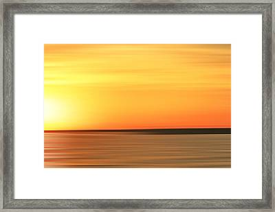 Muskegon Setting Sun Framed Print by Michael Peychich
