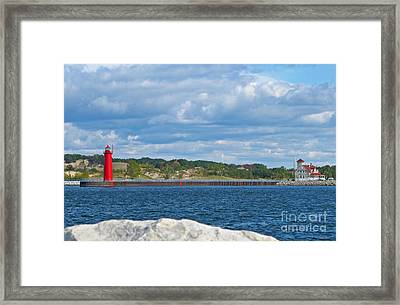 Muskegon South Pierhead Lighthouse Framed Print by Jack Schultz