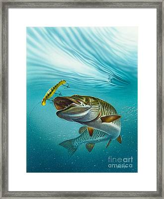 Muskie Troll Framed Print by Jon Q Wright
