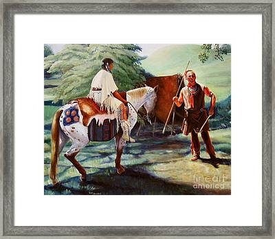 Muskogee Traditions Framed Print by Pat Burns