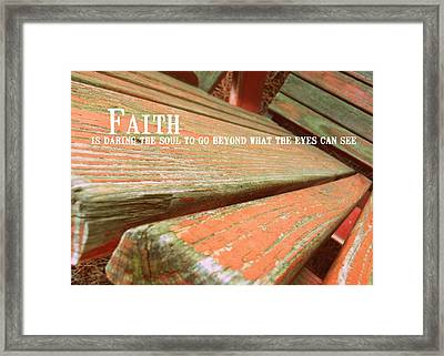 Muskoka Chair Quote Framed Print by JAMART Photography
