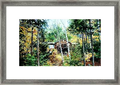 Muskoka Cottage Retreat Framed Print