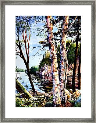 Muskoka Reflections Framed Print by Hanne Lore Koehler