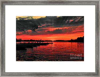 Muskoka Sunset Framed Print