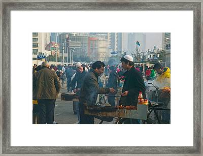 Muslim Chinese Uyghur Minority Food Framed Print by Panoramic Images