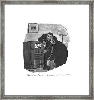Must Be Some Foreign Power Trying To Jam The Wave Framed Print by Robert J. Day