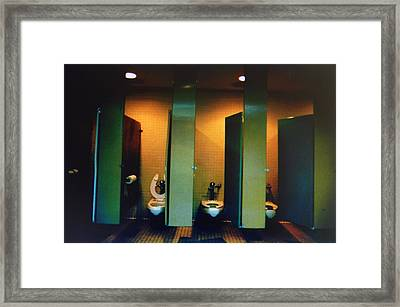 Must Be The Mens Room Framed Print