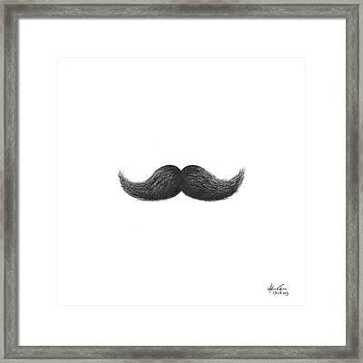 Mustache Framed Print by Adam Vereecke