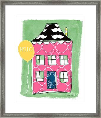 Mustache House Framed Print