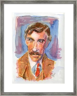 Mustache Framed Print by Marsden Burnell