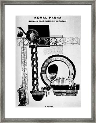 Mustafa Kemal Ataturk (1881-1938) Framed Print by Granger