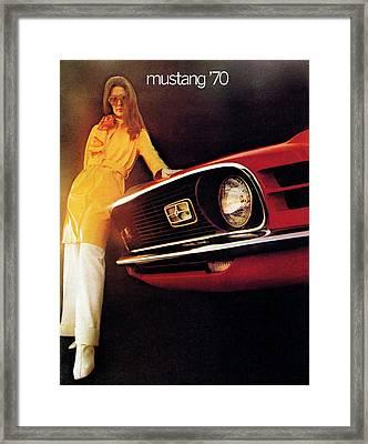 Mustang '70 Framed Print by Digital Repro Depot