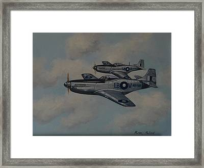 Mustang Duo Framed Print by Murray McLeod