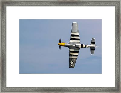 Framed Print featuring the photograph Mustang Flyby D-day by Scott Lyons