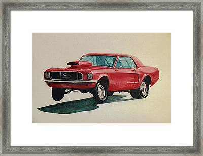 Framed Print featuring the painting Mustang Launch by Stacy C Bottoms