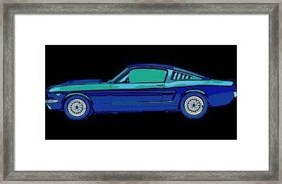 Mustang Love Framed Print by Florian Rodarte