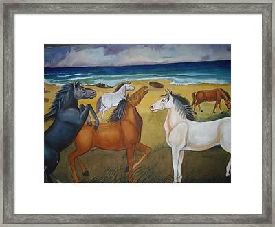 Mustang Mates Framed Print