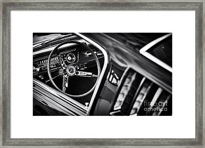 Mustang Monochrome Framed Print by Tim Gainey