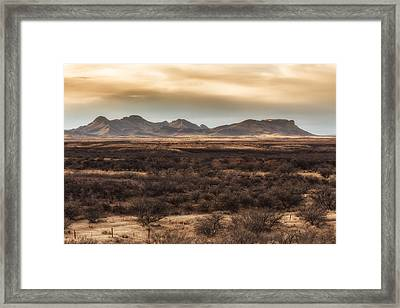 Framed Print featuring the photograph Mustang Mountains by Beverly Parks