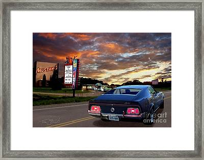 Mustang Muscle Framed Print by Tom Straub