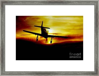 Mustang Recovery Framed Print by J Biggadike
