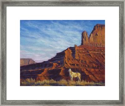 Mustang Ridge Monument Valley Az Framed Print