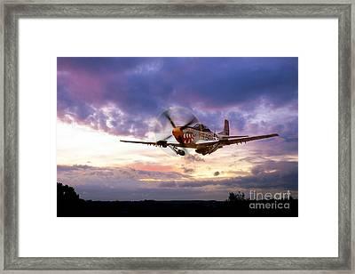 Mustang Scramble Framed Print by J Biggadike
