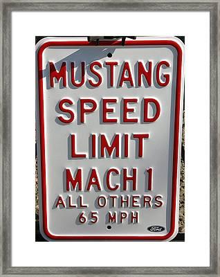 Mustang Speed Limit Framed Print