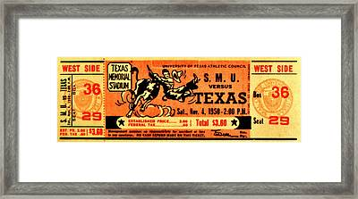 Mustangs Hooked Framed Print by Benjamin Yeager